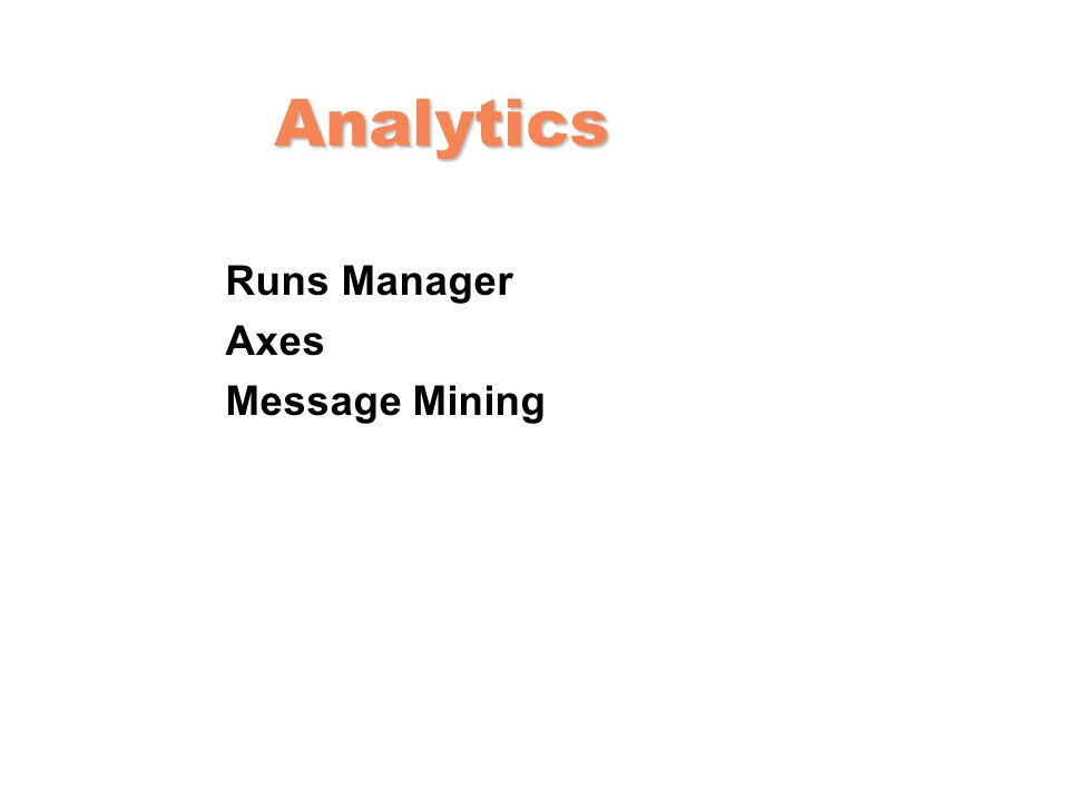 Analytics Runs Manager Axes Message Mining
