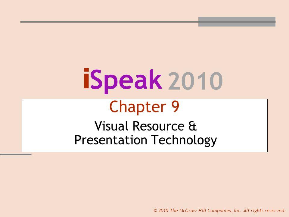 i Speak 2010 © 2010 The McGraw-Hill Companies, Inc.