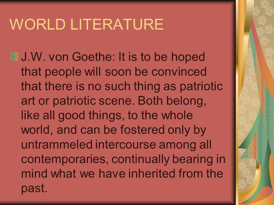 WORLD LITERATURE J.W.