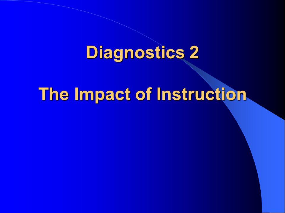 Diagnostics 2 The Impact of Instruction