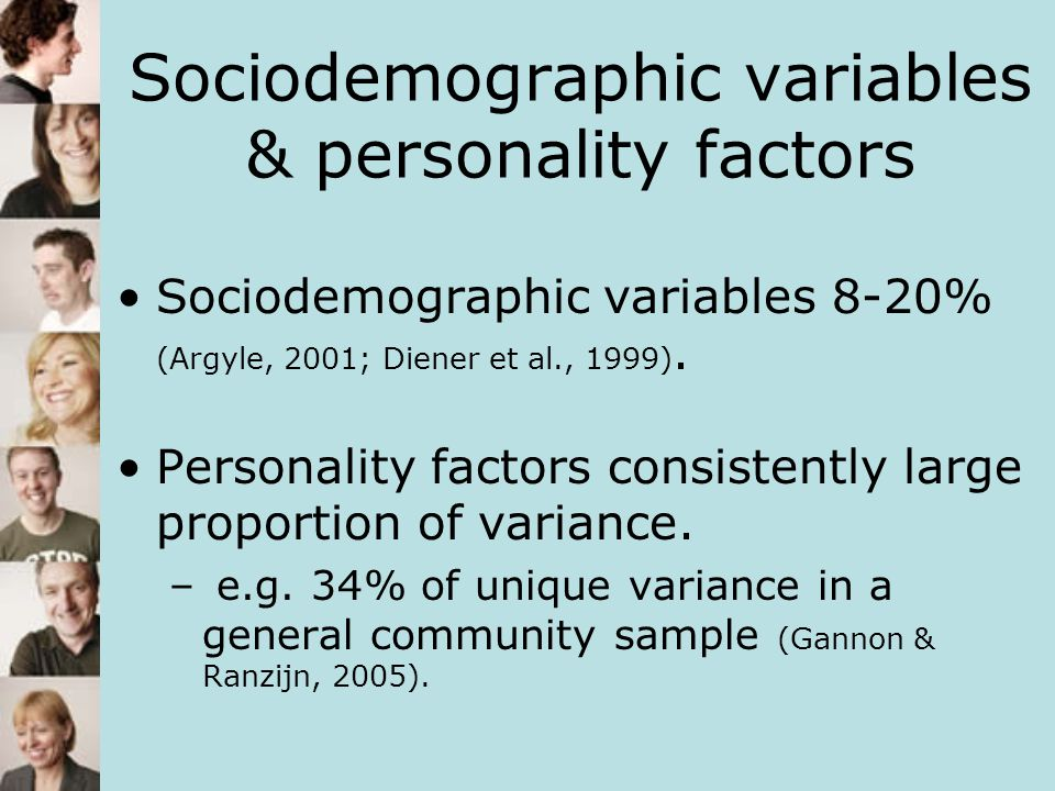 Discussion Small amount of variance accounted for by SS, inconsistent with previous research.