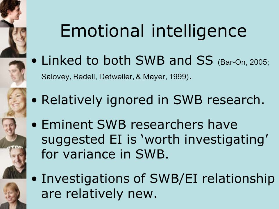 Emotional intelligence EI was labelled and modelled by Salovery and Mayer (1990).