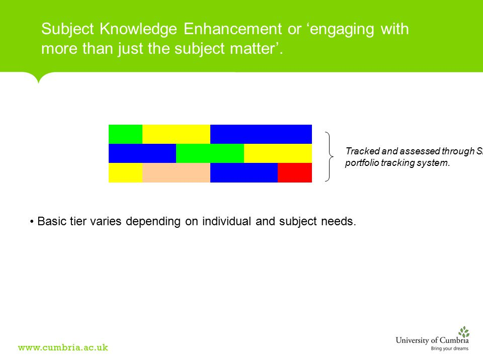 Subject Knowledge Enhancement or 'engaging with more than just the subject matter'.