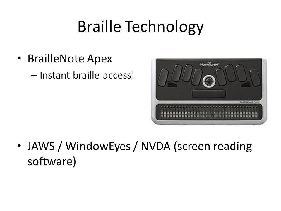 Braille Technology BrailleNote Apex – Instant braille access.