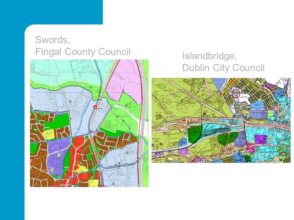 Swords, Fingal County Council Islandbridge, Dublin City Council