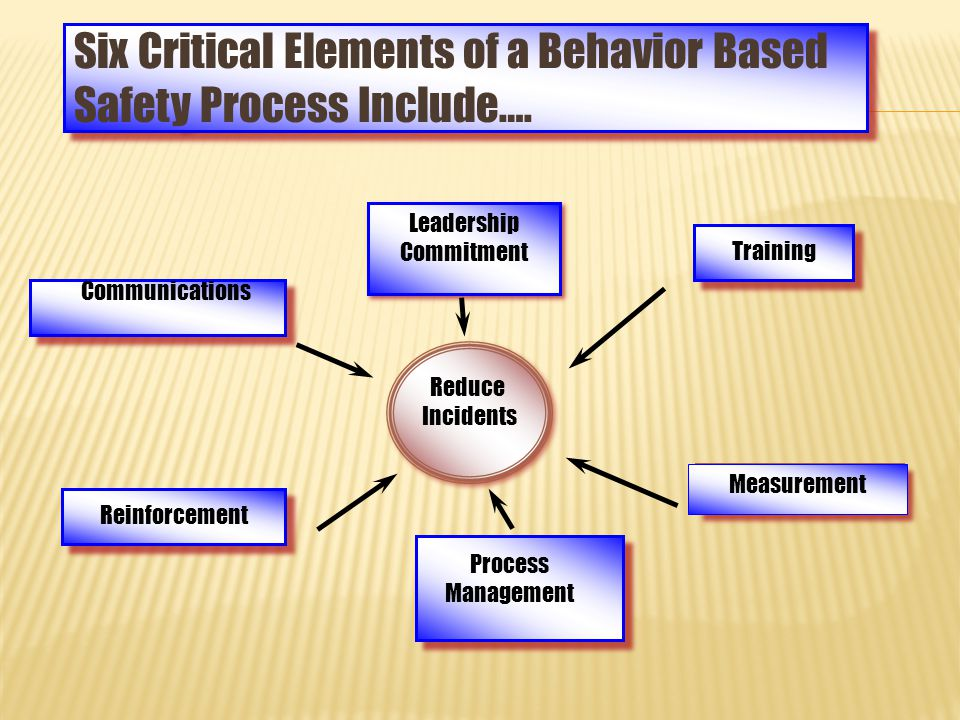 Six Critical Elements of a Behavior Based Safety Process Include….
