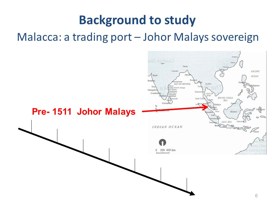 6 Background to study Pre- 1511 Johor Malays Malacca: a trading port – Johor Malays sovereign