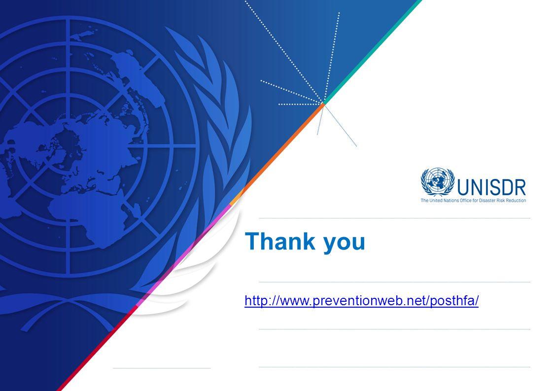 Thank you http://www.preventionweb.net/posthfa/ http://www.preventionweb.net/posthfa/