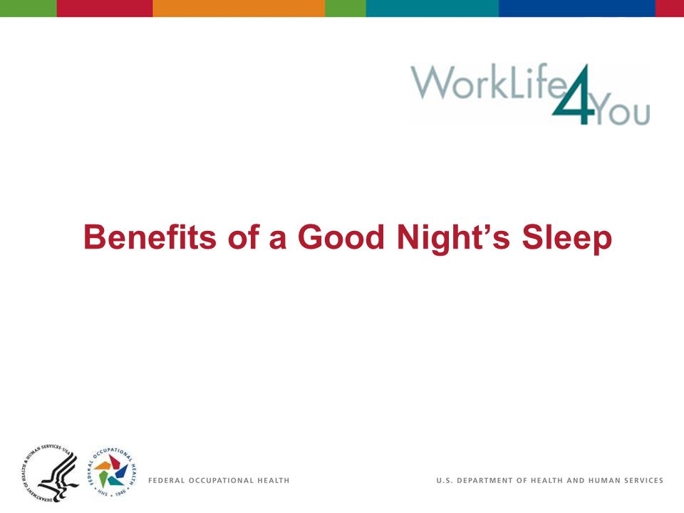 Benefits of a Good Night's Sleep