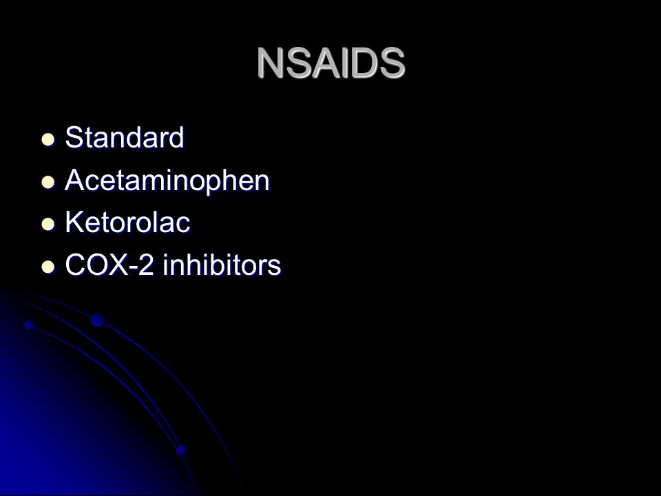 NSAIDS Mechanism Mechanism Indication Indication Side effects Side effects