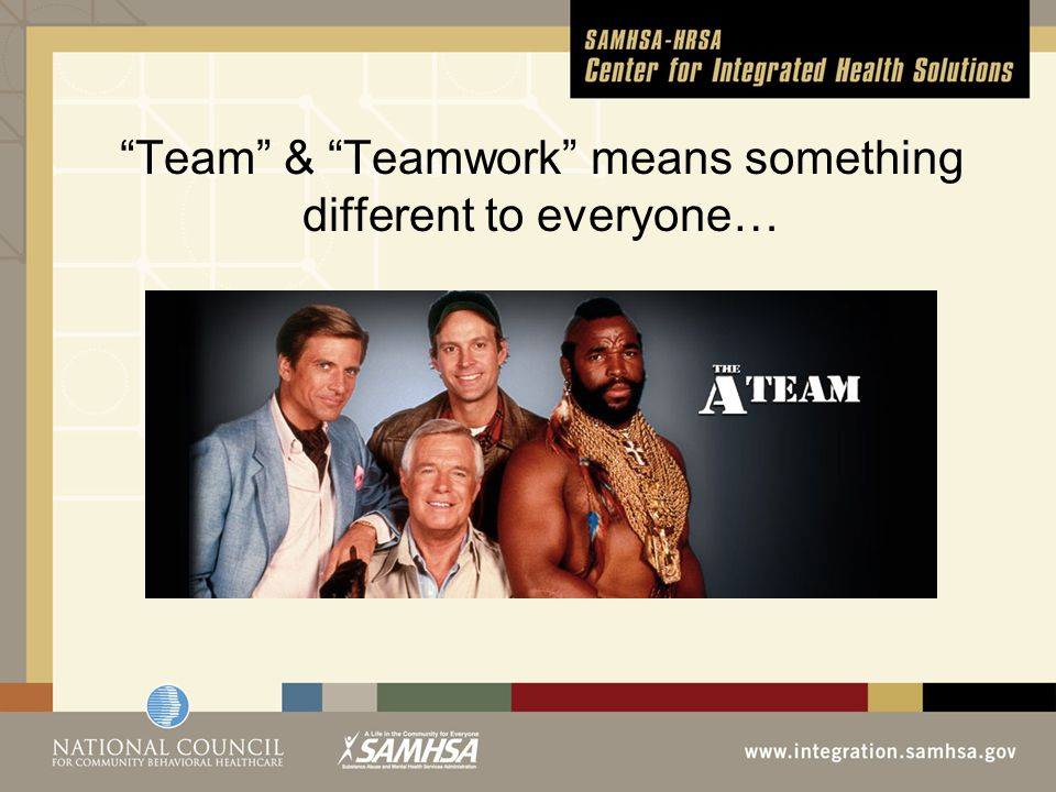 Team & Teamwork means something different to everyone…