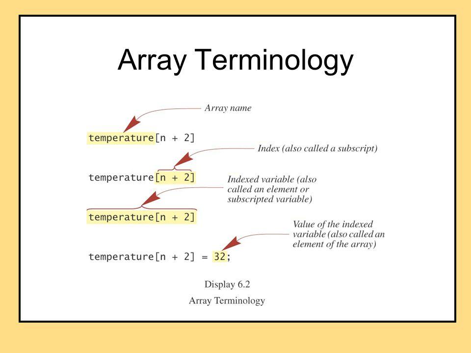 Array Terminology