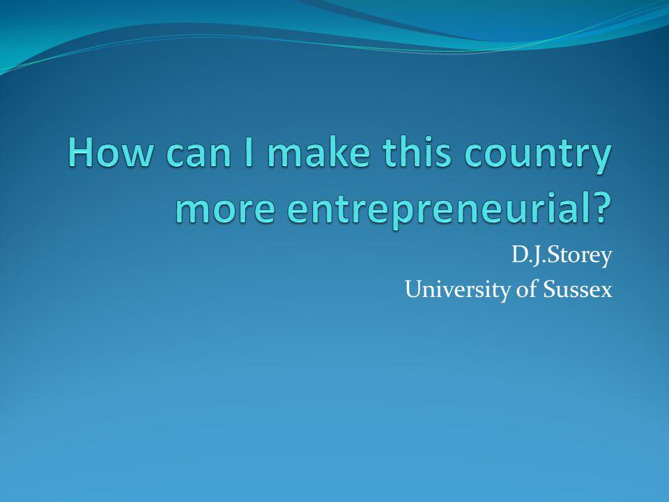 D.J.Storey University of Sussex