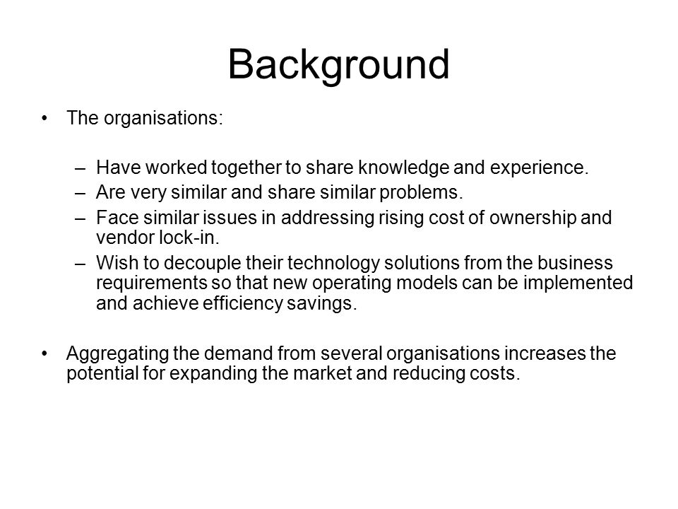 Scope Functions Definition for Procurement Purposes –Are we aligned.