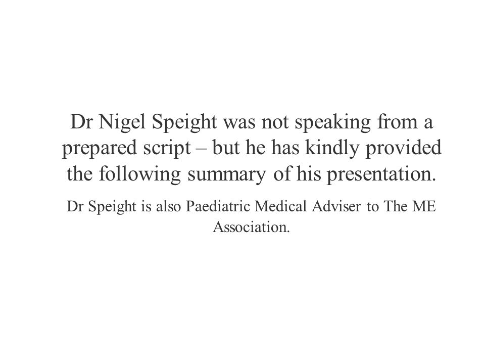 Dr Nigel Speight was not speaking from a prepared script – but he has kindly provided the following summary of his presentation.