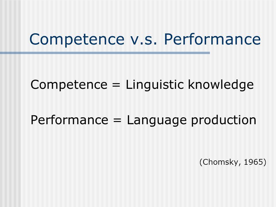 Competence v.s.