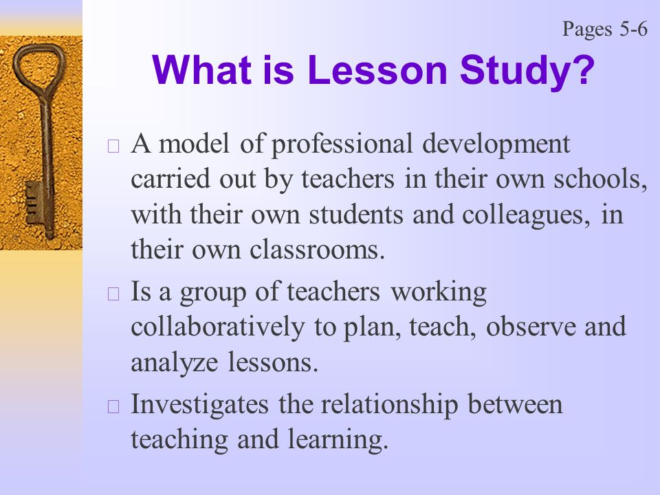 What is Lesson Study.