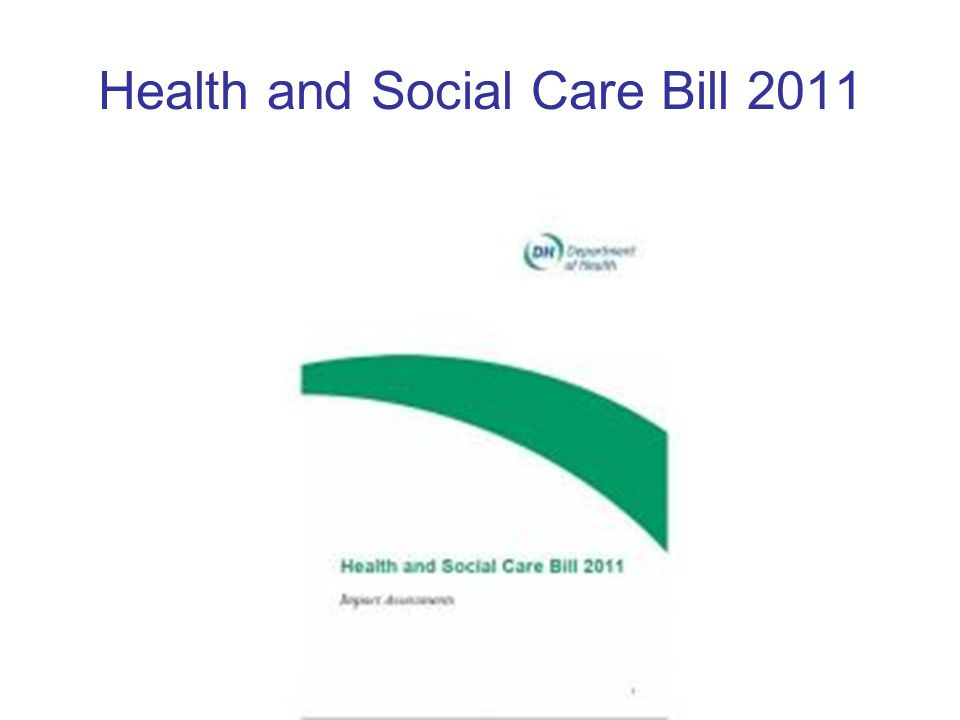 Health and Social Care Bill 2011
