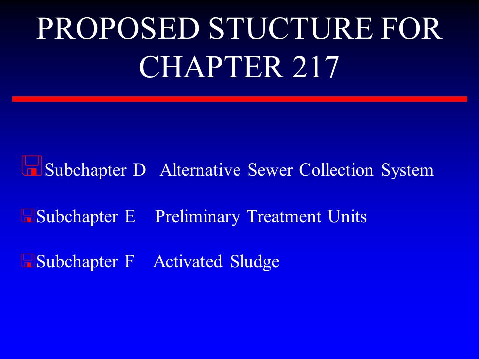 SUBCHAPTER F Activated Sludge < Provides design criteria for sequencing batch reactors (SBR).