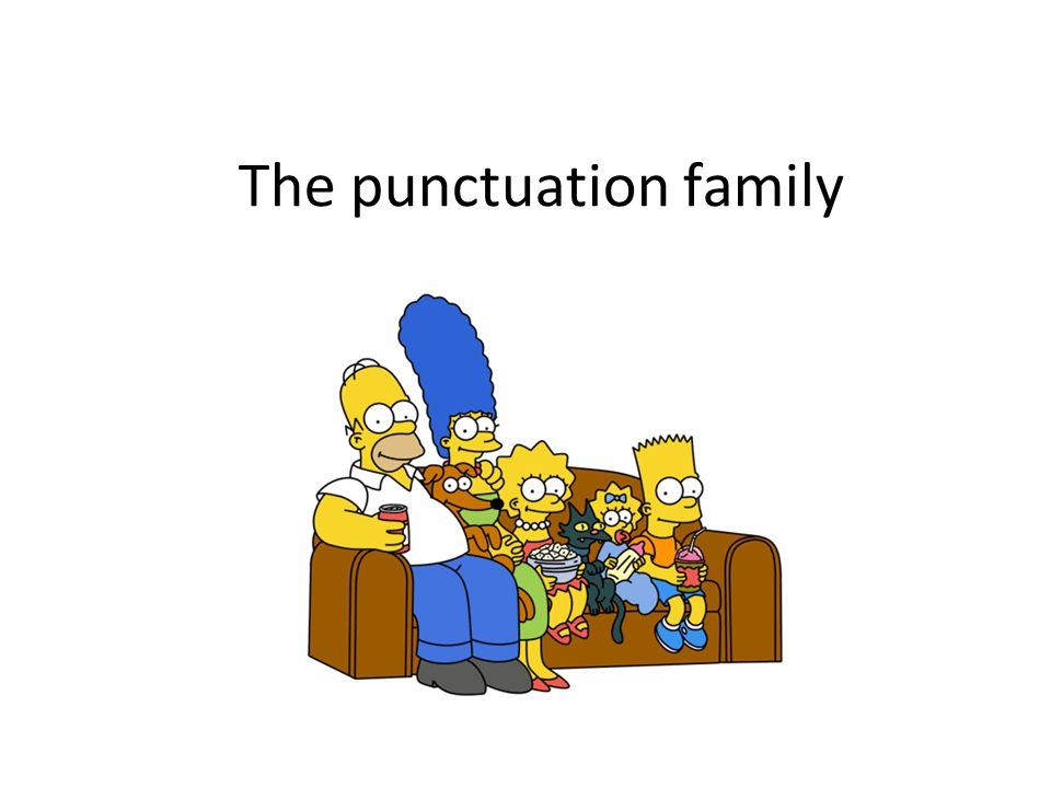 The punctuation family