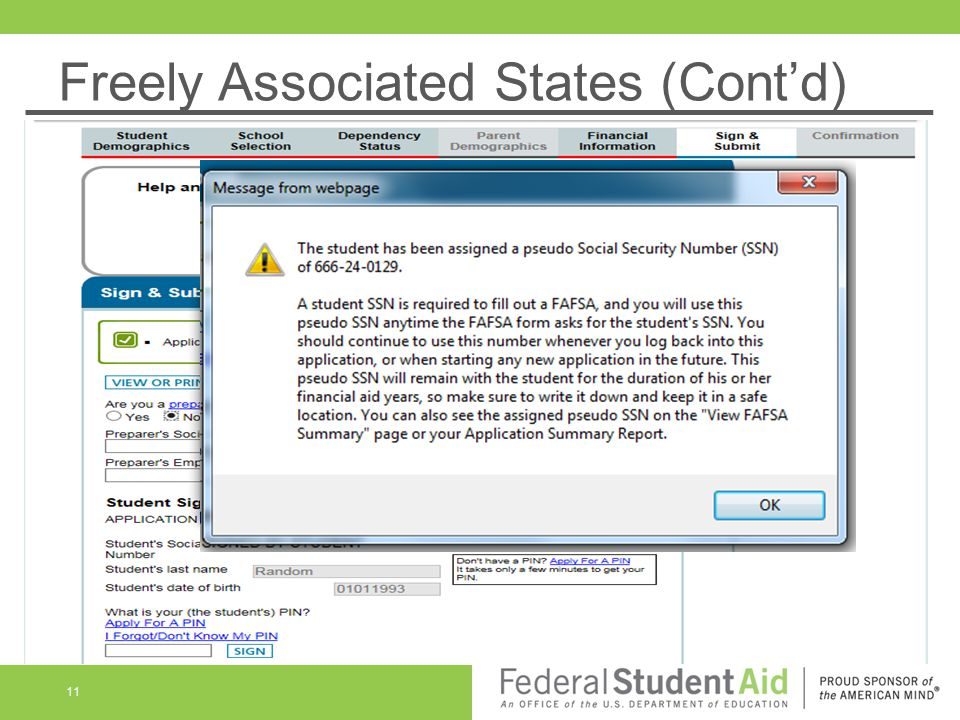 Freely Associated States (Cont'd) 11