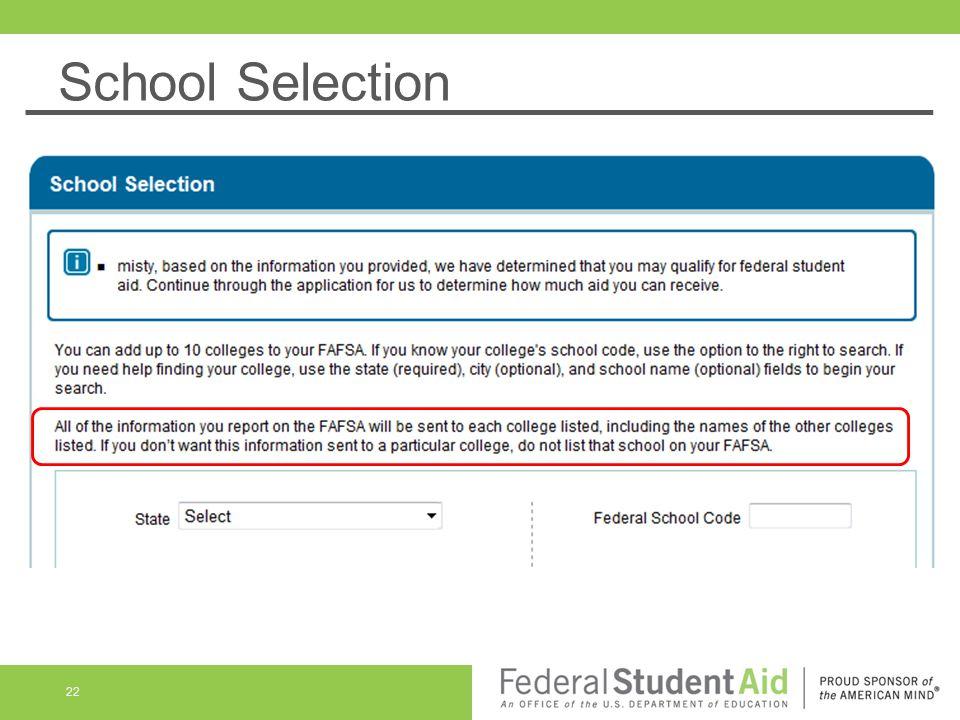 School Selection 22