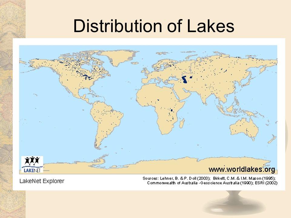 Distribution of Lakes