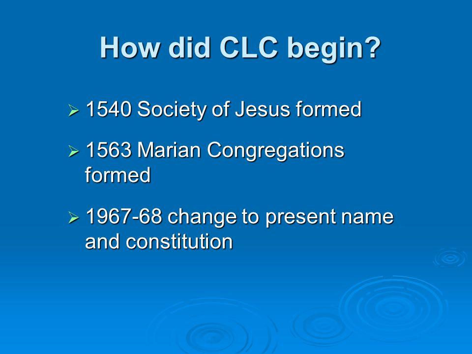 How did CLC begin.
