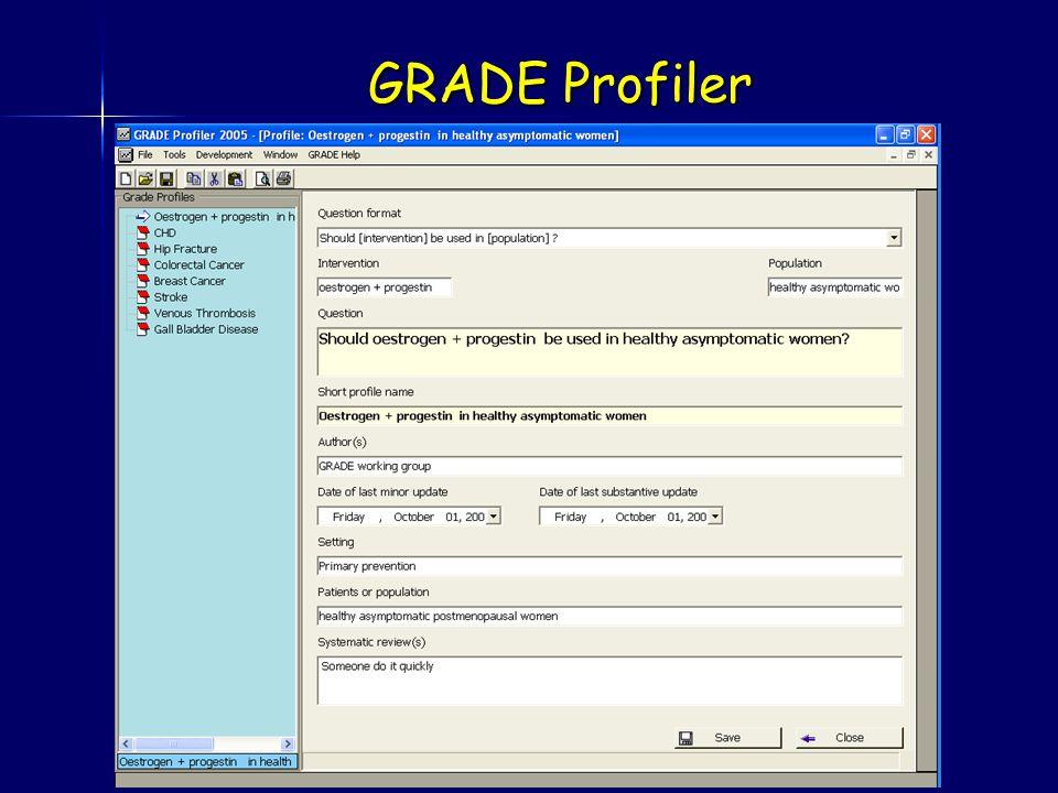 GRADE Profiler