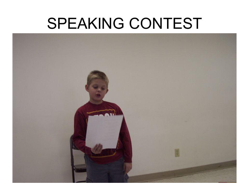 SPEAKING CONTEST