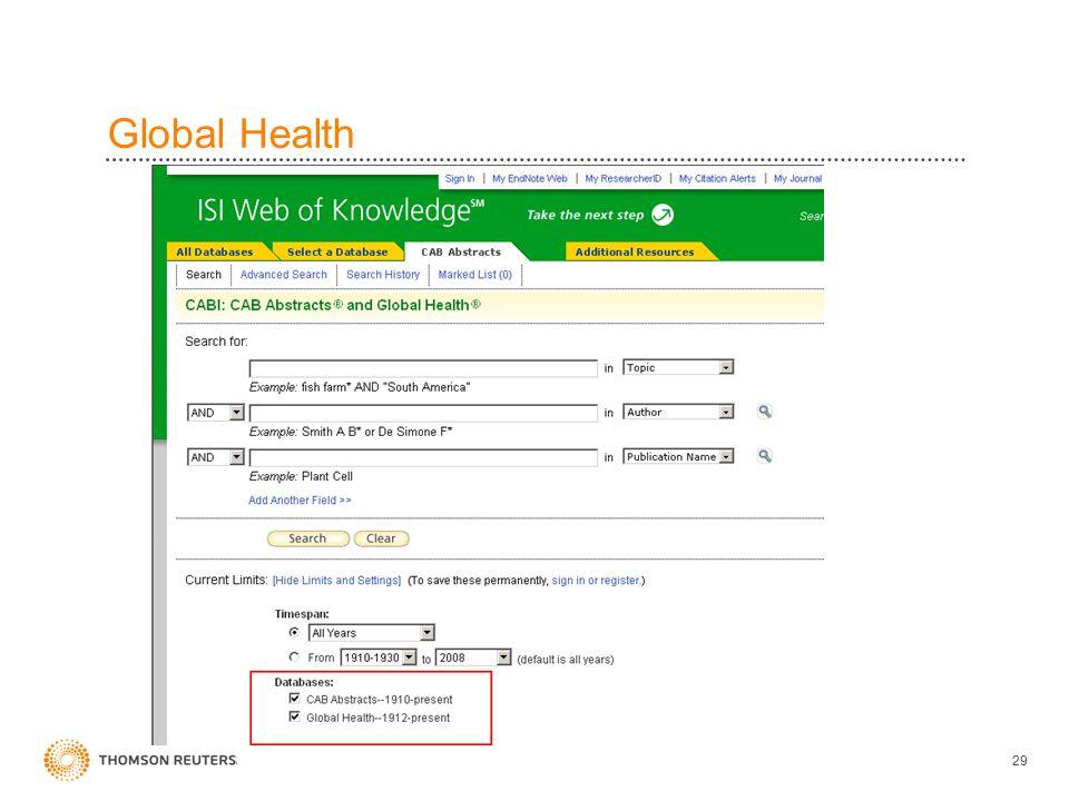 Global Health 29
