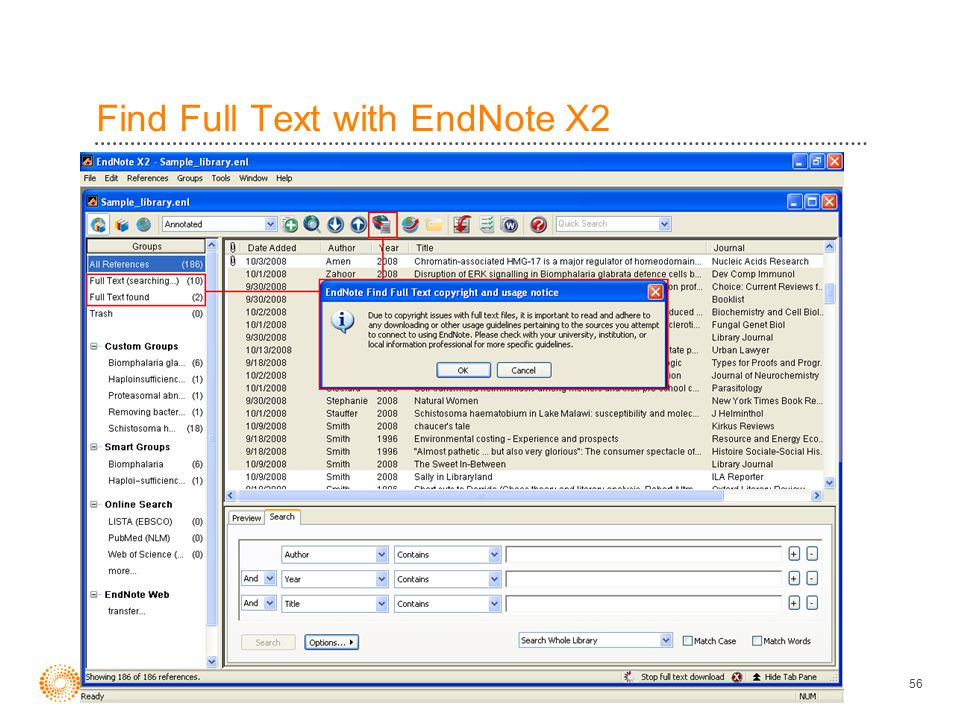 56 Find Full Text with EndNote X2