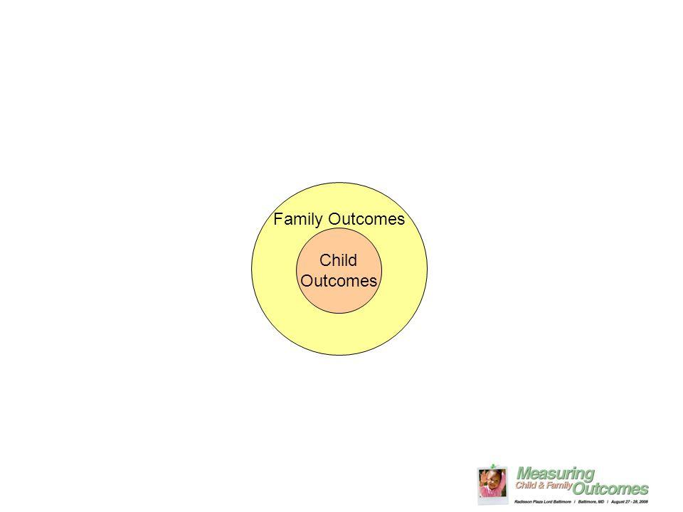 Child Outcomes Family Outcomes