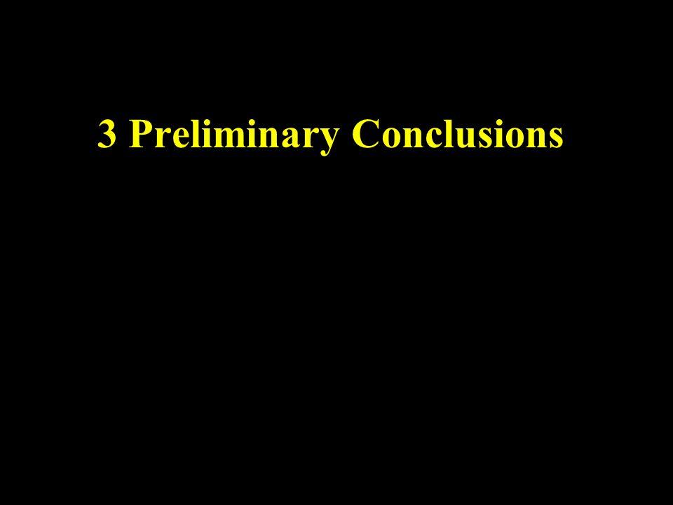 3 Preliminary Conclusions