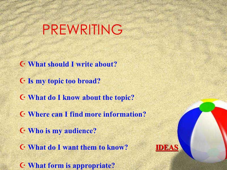 The Writing Process Monday, April 27, 2015