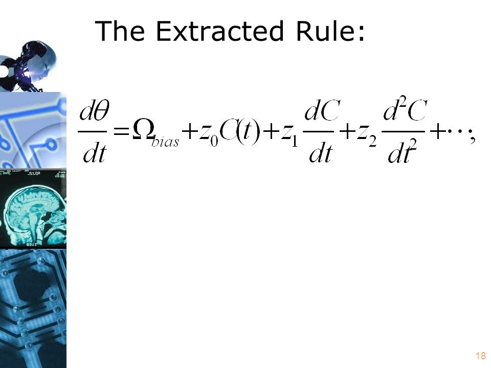 18 The Extracted Rule: