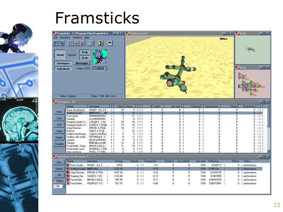 23 Framsticks