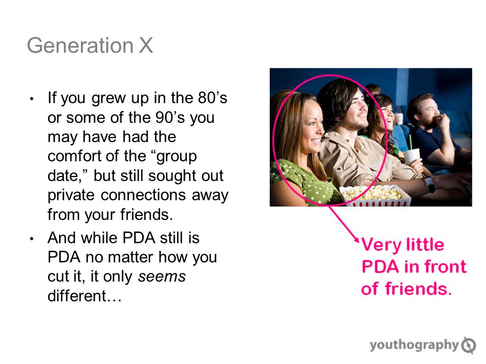 If you grew up in the 80's or some of the 90's you may have had the comfort of the group date, but still sought out private connections away from your friends.