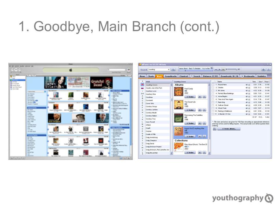 1. Goodbye, Main Branch (cont.)