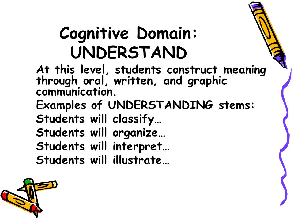 Cognitive Domain: APPLY At this level, students carry out or use a procedure.
