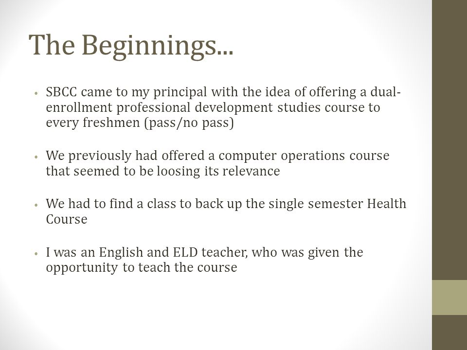 The Beginnings...