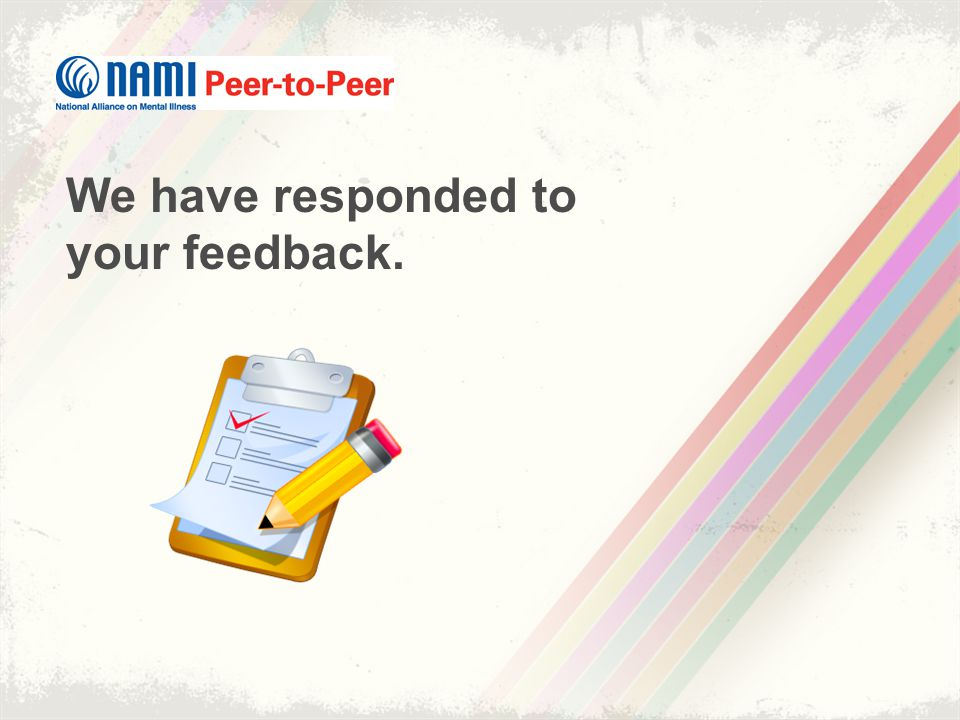We have responded to your feedback.