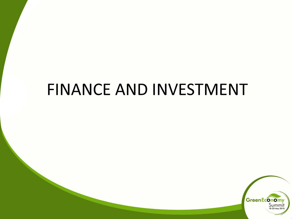 FINANCE AND INVESTMENT