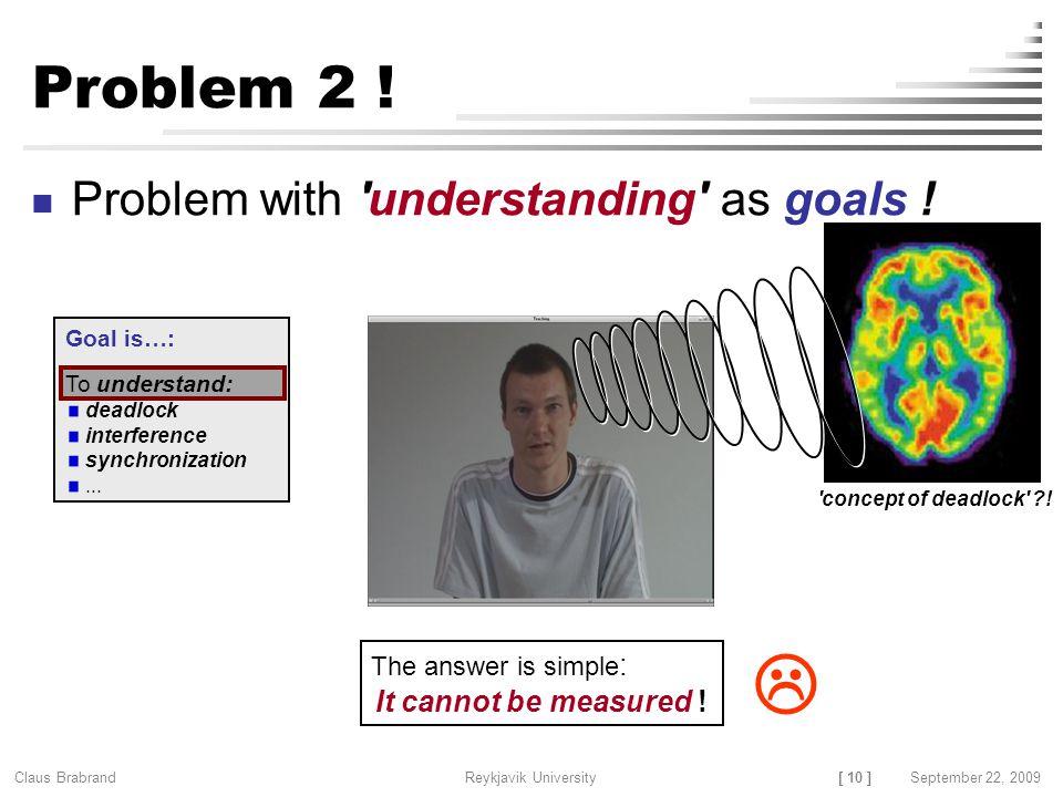 [ 10 ] Claus Brabrand Reykjavik UniversitySeptember 22, 2009 Problem 2 .