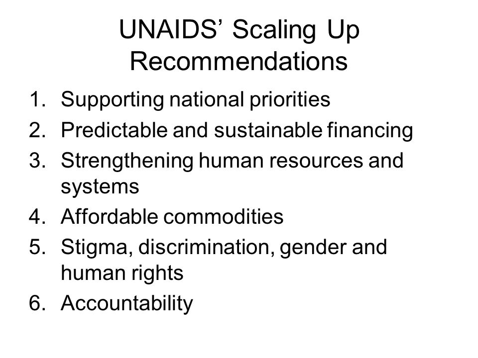 Conclusion Most HIV prevention (and condom programming) guides developed by international agencies provide advice to national governments, NGOs and the private sector.