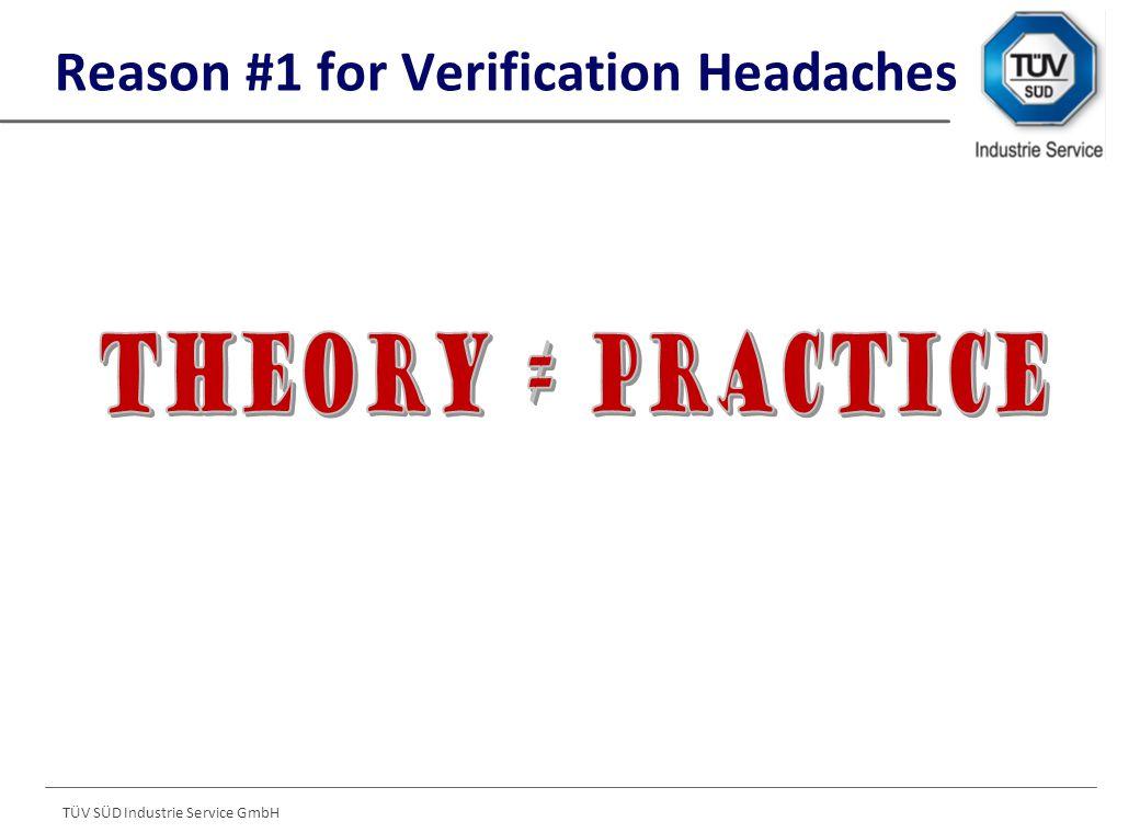 TÜV SÜD Industrie Service GmbH Reason #1 for Verification Headaches