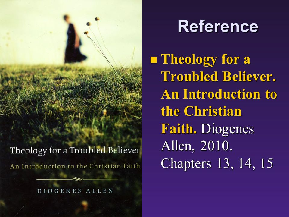 Reference Theology for a Troubled Believer. An Introduction to the Christian Faith.