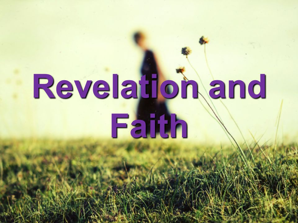 Revelation and Faith