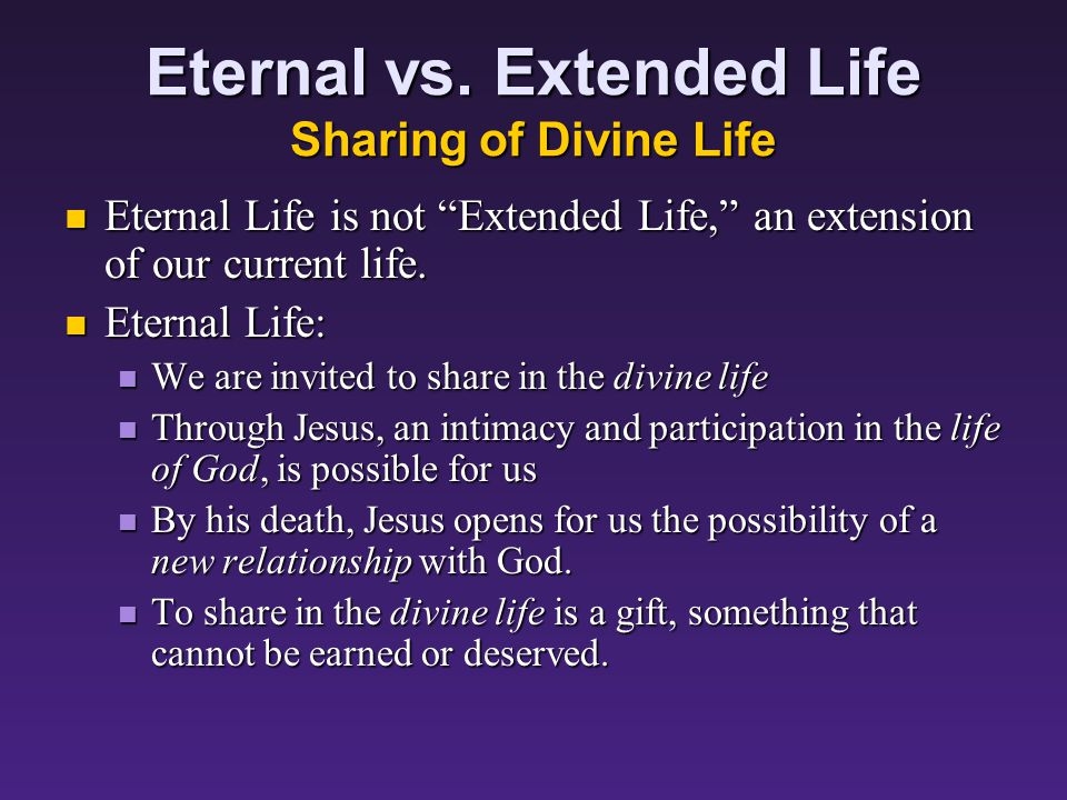 Eternal vs.