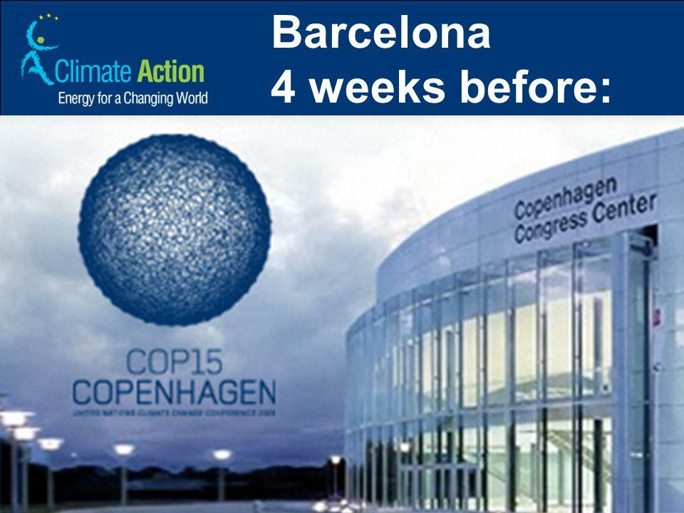 Barcelona 4 weeks before: